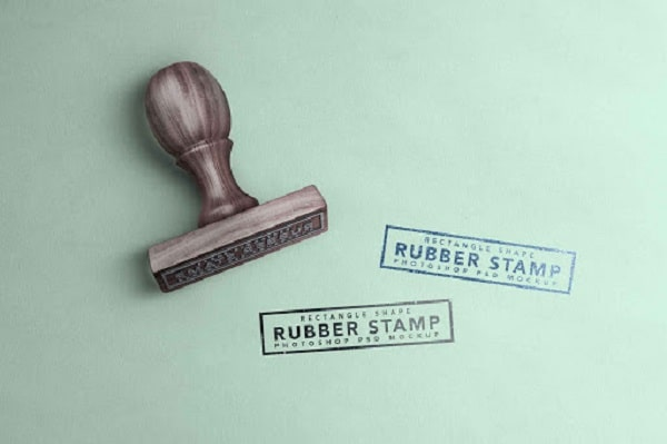 how to properly use rubber stamps