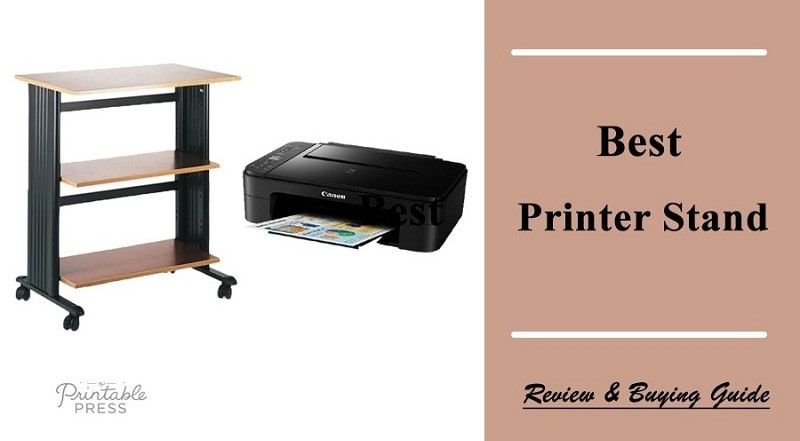 modern printer stand