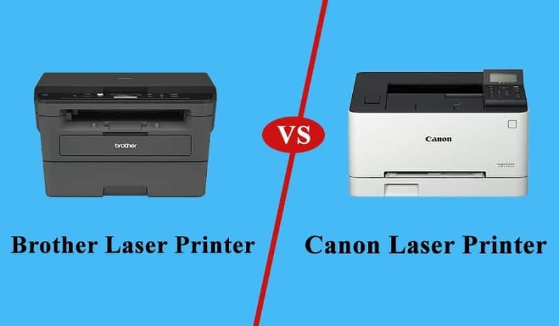 brother vs canon laser printer
