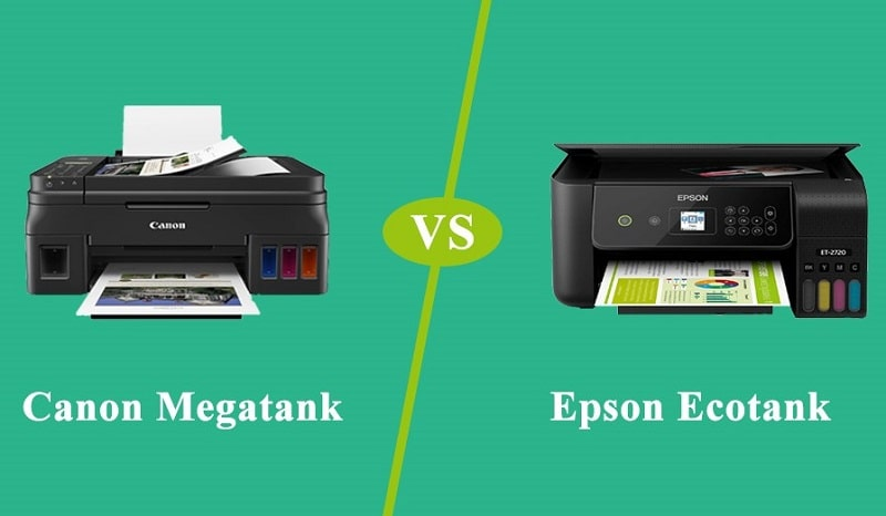 canon vs epson ink tank printer