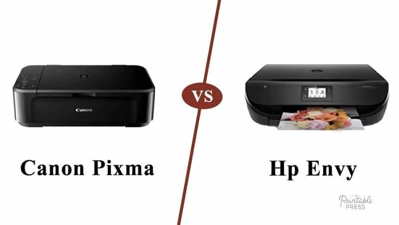 canon pixma vs hp envy
