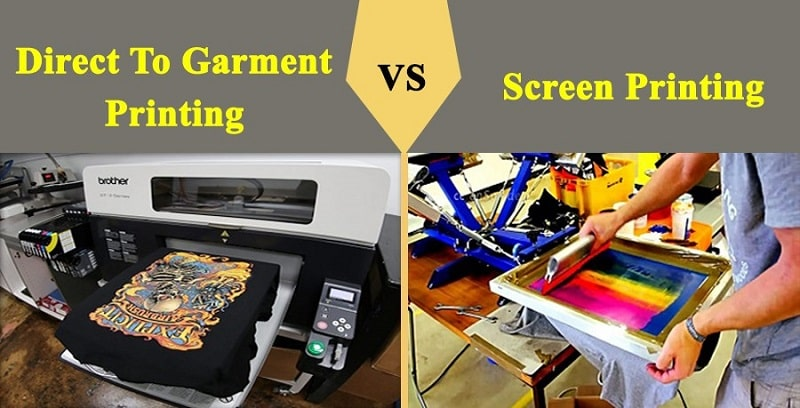 dtg printing vs screen printing