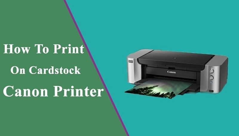 canon printer cardstock