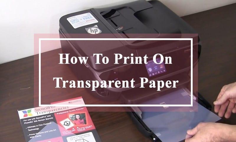 digital printing on transparent plastic sheets