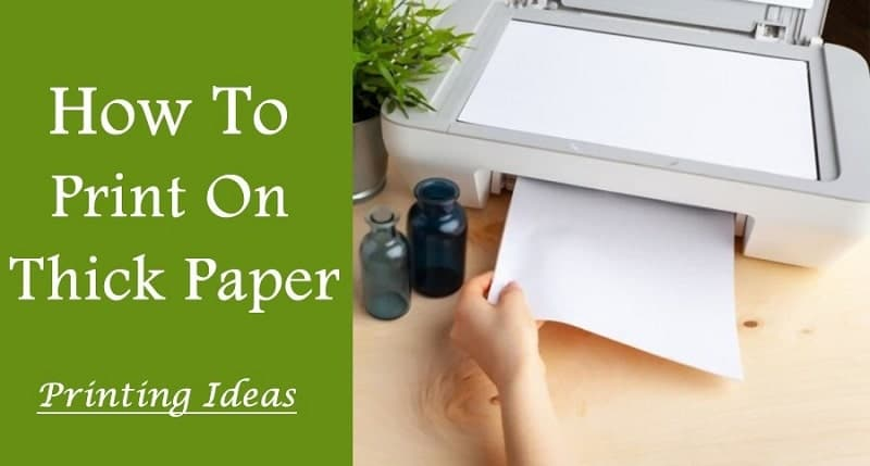 how to print on thick paper
