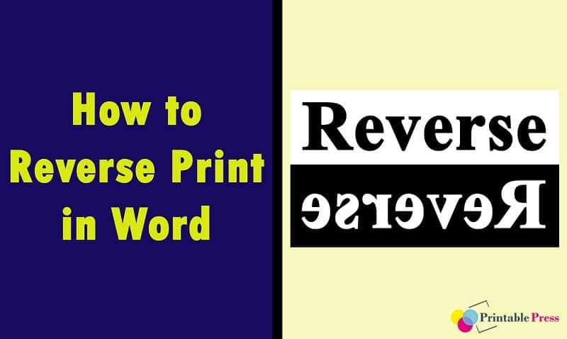 how to print in reverse order in word