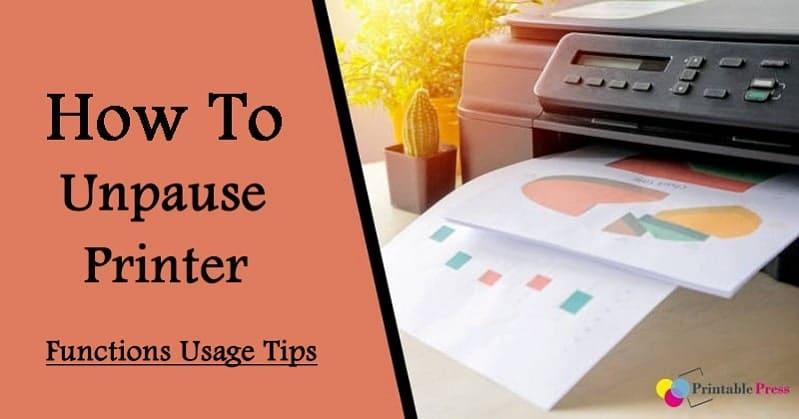 how to unpause printer
